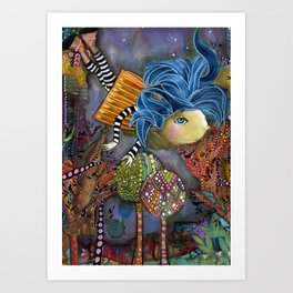 Flying High to Get to You Art Print