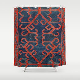 Avar Daghestan Northeast Caucasus Kilim Print Shower Curtain