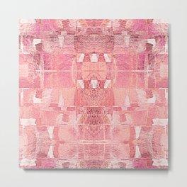 Mid Century Modern Abstract Geometric Shapes Metal Print