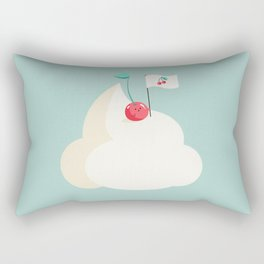 Cherry on top (of the whipped cream mountain) Rectangular Pillow