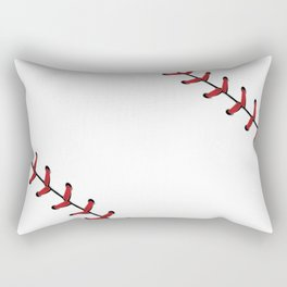 Baseball Laces Rectangular Pillow