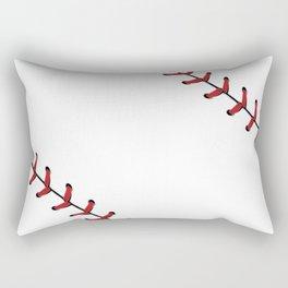 Baseball Laces Rectangular Pillow