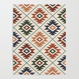 Aztec Symbol Pattern Col Mix Poster
