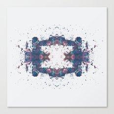 Inkdala VIII - Purple Rorschach Art Canvas Print