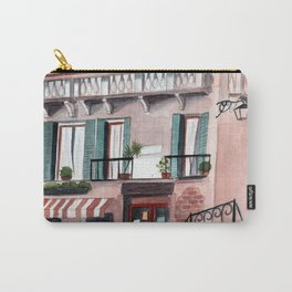 Italy coffee shop watercolor Carry-All Pouch