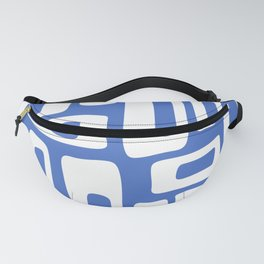 Retro Mid Century Modern Abstract Pattern 335 Blue Fanny Pack