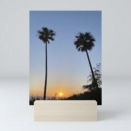 Palm Trees at Scripps Pier - 1 Mini Art Print