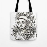 fairy Tote Bags featuring Fairy by Anca Chelaru
