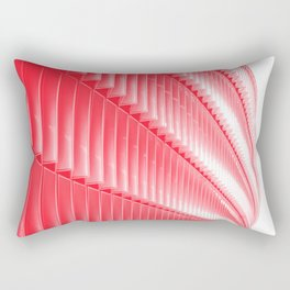 Red and white structure background design Rectangular Pillow
