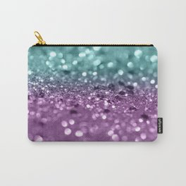 Aqua Purple MERMAID Girls Glitter #2 #shiny #decor #art #society6 Carry-All Pouch