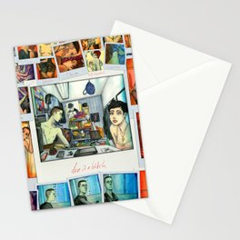 Morning Blues collage Stationery Cards