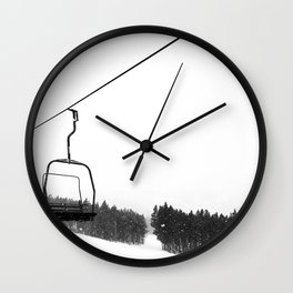 Ski Lifts Views Wall Clock