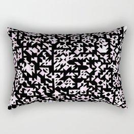 Inverted Black and White Randomness Rectangular Pillow