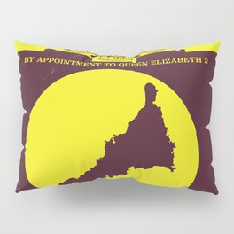 Cornwall vintage style map poster Pillow Sham