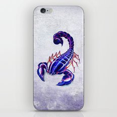Purple scorpion iPhone & iPod Skin