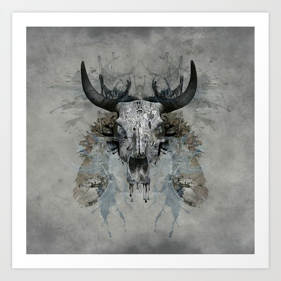 Something is squeezing my skull! Art Print
