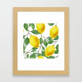 TROPICAL LEMON TREE Framed Art Print
