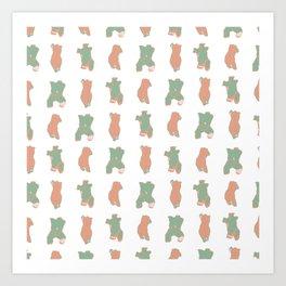 Nude Torso - Pattern Art Print