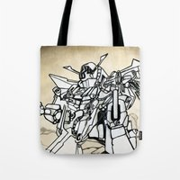 transformer Tote Bags featuring Transformer by Dave Houldershaw