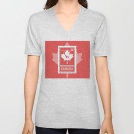 CANADA WEIM STAMP Unisex V-Neck