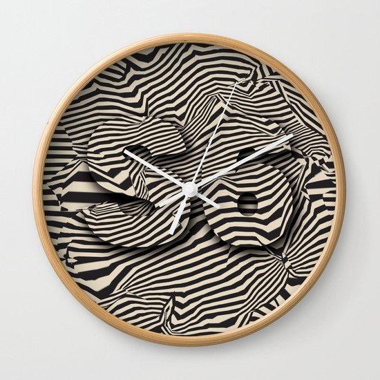 striated Wall Clock