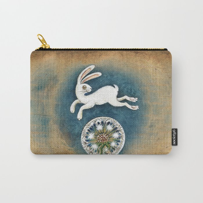 Rabbit with dandelion Carry-All Pouch