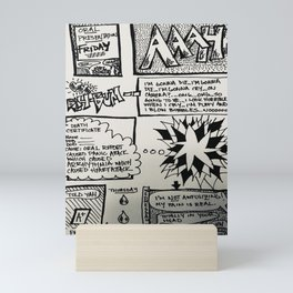 Oral Report Comic Mini Art Print