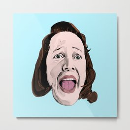Crazy Annie Wilkes - Misery (Blue) Metal Print