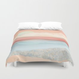 Mint Moon Beach Duvet Cover