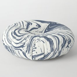 Blue marble abstract texture Pattern Floor Pillow