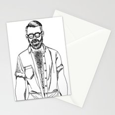 vive les poils Stationery Cards