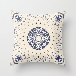 Reverse Men And Trees Under The Sun  Throw Pillow