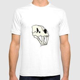Rose Tiger Skull White T-shirt