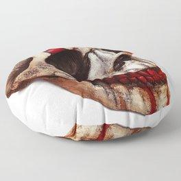 Circus Clown Skull Floor Pillow