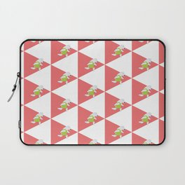 Running Polar Bear Triangle Laptop Sleeve