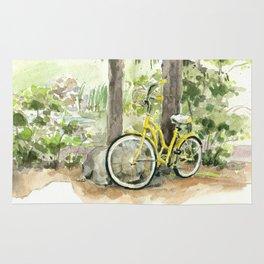 Yellow Bicycle Rug