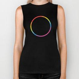 Pride: Rainbow Geometric Circle Biker Tank