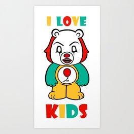It Bear - I Love Kids Art Print