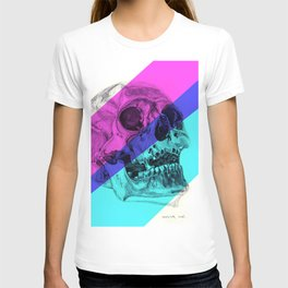 Skull pencil drawing with colour T-shirt