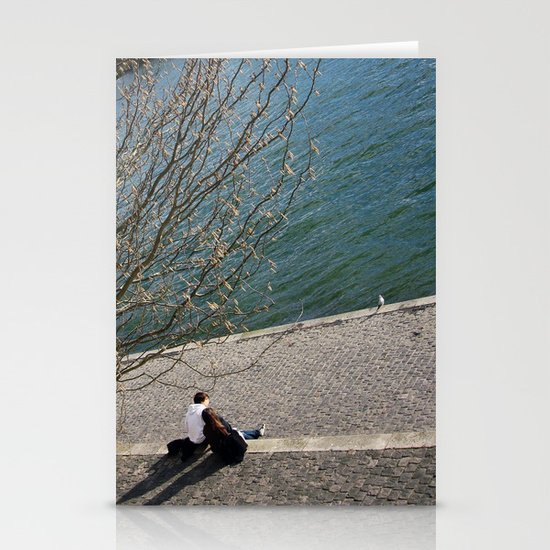 Seine river Stationery Cards