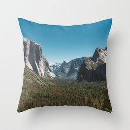 Tunnel View, Yosemite National Park V Throw Pillow