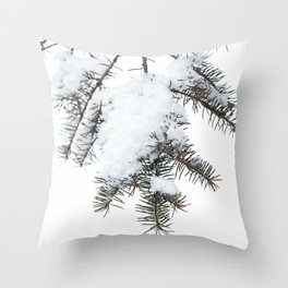 Snowy Spruce Needles 6 Throw Pillow