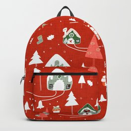 gingerbread house red #Christmas #Holiday Backpack