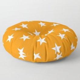 Stars (White/Orange) Floor Pillow