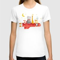 bruno mars T-shirts featuring Let's All Go To Mars by Picomodi