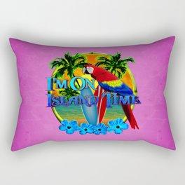 Pink Island Time Sunset Rectangular Pillow