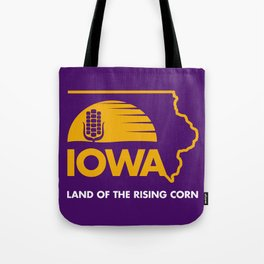Iowa: Land of the Rising Corn - Purple and Gold Edition Tote Bag