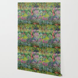 Claude Monet - The Iris Garden At Giverny Wallpaper