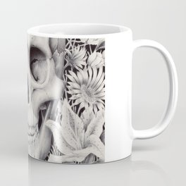 Skull and Flowers Vanitas Coffee Mug