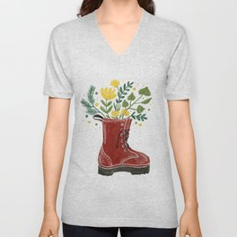 In love with my boot Unisex V-Neck